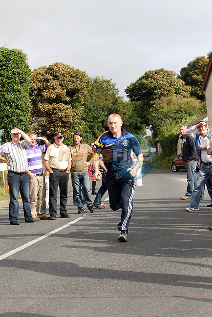 Alan Long, Drogheda at the all Ireland Junior and Novice Road Bowling Finals hosted by the Drogheda and District Road Bowls Club on the Baltray Road, Drogheda, Co.Louth....Photo NEWSFILE/Jenny Matthews.