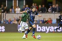 San Jose, CA - Saturday May 06, 2017: Jahmir Hyka during a Major League Soccer (MLS) match between the San Jose Earthquakes and the Portland Timbers at Avaya Stadium.