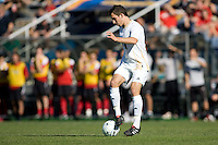 Akron's Chad Barson (3) dances over the ball. 2010 NCAA D1 College Cup Championship Final Akron defeated Louisville 1-0 at Harder Stadium on the campus of UCSB in Santa Barbara, California on Sunday December 12, 2010.