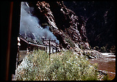 D&amp;RGW excursion train eastbound in Black Canyon 9-7-47<br /> D&amp;RGW  Black Canyon, CO  Taken by Maxwell, John W. - 9/7/1947