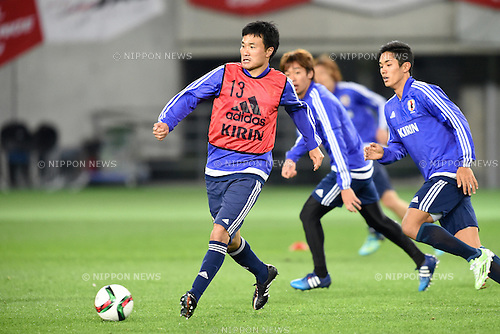 Yasuyuki Konno (JPN), <br /> MARCH 30, 2015 - Football / Soccer : <br /> Japan training session <br /> at Tokyo Stadium in Tokyo, Japan. <br /> (Photo by AFLO SPORT)