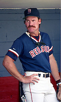 Boston Red Sox Wade Boggs during spring training circa 1992 at Chain of Lakes Park in Winter Haven, Florida.  (MJA/Four Seam Images)