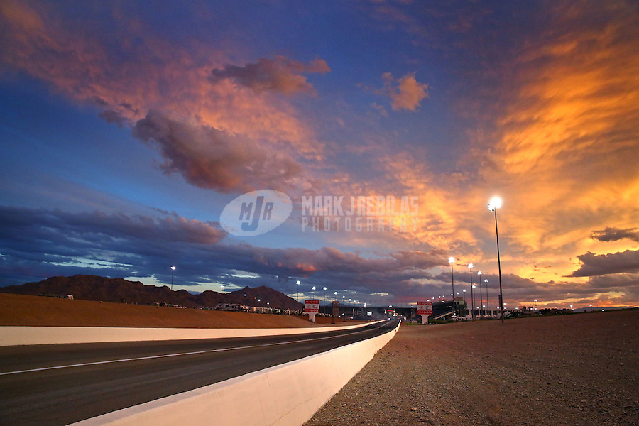 Nov 1, 2014; Las Vegas, NV, USA;  Overall view of The Strip at Las Vegas Motor Speedway during NHRA qualifying for the Toyota Nationals. Mandatory Credit: Mark J. Rebilas-USA TODAY Sports