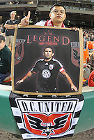 DC United Fans supporting Jaime Moreno in his last game .  Toronto FC. defeated DC United 3-2 at RFK Stadium, October 23, 2010.
