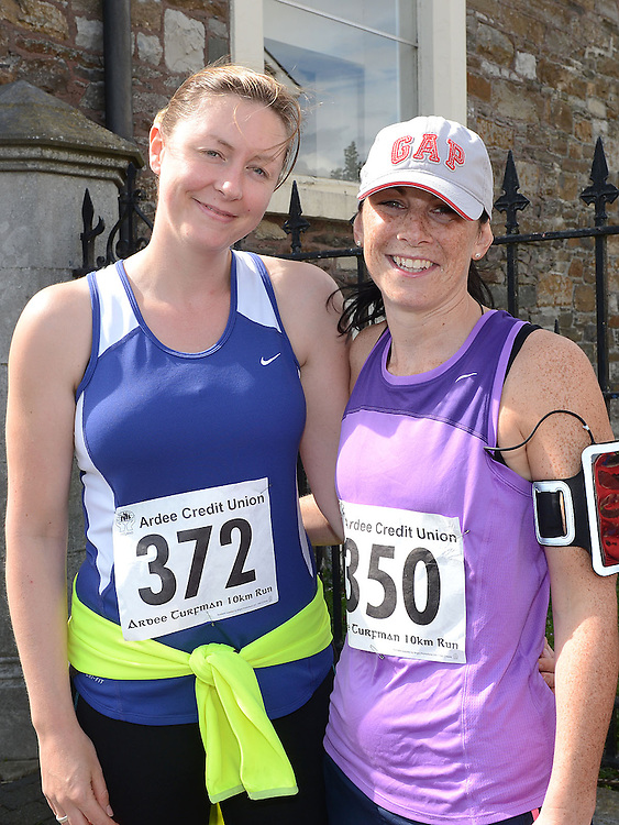 Therese Halpenny and Kate Moonan who took part in the Turfman 10K run in Ardee. Photo:Colin Bell/pressphotos.ie