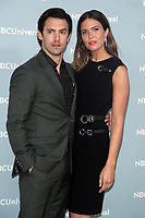 NEW YORK, NY - MAY 14: Milo Ventimiglia and Mandy Moore at the 2018 NBCUniversal Upfront at Rockefeller Center in New York City on May 14, 2018.  <br /> CAP/MPI/RW<br /> &copy;RW/MPI/Capital Pictures