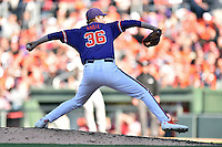 Clemson Tigers pitcher Pat Krall (36) delivers a pitch during a game against the South Carolina Gamecocks at Fluor Field on March 5, 2016 in Greenville, South Carolina. The Tigers defeated the Gamecocks 5-0. (Tony Farlow/Four Seam Images)