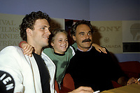 FILE PHOTO - Serge Dupire, Guillaume Lemay-thivierge, Jean Beaudin lors de la conference de presses pour LA MATOU,  Festival des Films du Monde 1985 <br /> <br /> PHOTO :   Agence quebec Presse