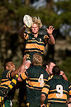 "Jamie Chipman claims lineout ball during the CMRFU Counties Power ""Game of the Week' between Bombay & Pukekohe played at Bombay on Saturday 17th May 2008..Pukekohe led 15 - 0 at halftime & went on to win 42 - 5."