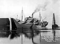 Wooden ship built for United States Shipping Board Emergency Fleet Corp., by Pacific American Fisheries, Bellingham, WA, 1918.  Grosart Studio.   (War Dept.)<br />