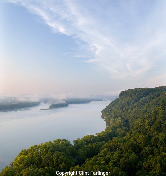 Mississippi River, Effigy Mounds National Monument and Upper Mississippi River National Fish and Wildlife Refuge, Iowa