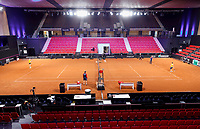 The Hague, The Netherlands, Februari 6, 2020,    Sportcampus, FedCup  Netherlands -  Balarus, warming up<br /> Photo: Tennisimages/Henk Koster
