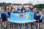 Knockaderry National School in Farranfore now has its very own Active School Flag. <br /> Front left to right Leah Whelan, Luke Henderson, Ethan Whelan, Jonathan Galvin, Laura O'Sullivan, Orna O'Leary, Sean O'Sullivan, Darragh O'Sullivan and Ogie O'Leary. <br /> Back left to right Grace Crowely (Active school coordinator), Simon O'Leary, Rachel Murphy, Fiona Callaghan and principal, Aine Daly.