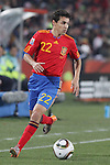 21 JUN 2010: Jesus Navas (ESP). The Spain National Team played the Honduras National Team at Ellis Park Stadium in Johannesburg, South Africa in a 2010 FIFA World Cup Group C match.