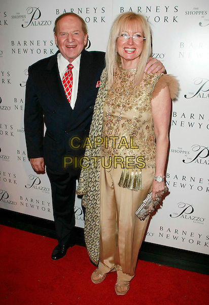 "SHELDON ADELSON & DR. MIRIAM ADELSON.""The Palazzo Las Vegas"" Hotel Casino - Grand Opening at Barneys New York and The Shoppes at The Palazzo,  Las Vegas, Nevada, USA, 17 January 2008..full length doctor.CAP/ADM/MJT.©AdMedia/Capital Pictures. *** Local Caption *** ."