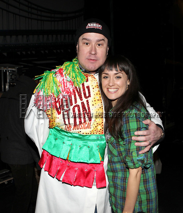 Merwin Foard & Brynn O'Malley attending the Broadway Opening Night Performance  Gypsy Robe Ceremony celebrating Merwin Foard recipient  for 'Annie' at the Palace Theatre in New York City on 11/08/2012