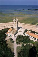 Europe/France/Poitou-Charentes/17/Charente-Maritime/Ile de Ré/Saint-Clément-des-Baleines: L'ancienne Tour des Baleines construite par Vauban vue depuis le phare