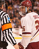 Austin Cangelosi (BC - 26) - The Boston College Eagles defeated the Harvard University Crimson 3-2 in the opening round of the Beanpot on Monday, February 1, 2016, at TD Garden in Boston, Massachusetts.