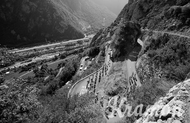 grupetto  up the Lacets de Montvernier (2C/782m/3.4km, 8.2%)<br /> <br /> stage 18: Gap - St-Jean-de-Maurienne (187km)<br /> 2015 Tour de France