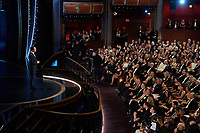 Lin Manuel Miranda introduces musical act Eminem during the live ABC telecast of the 92nd Oscars® at the Dolby® Theatre in Hollywood, CA on Sunday, February 9th, 2020.<br /> *Editorial Use Only*<br /> CAP/AMPAS<br /> Supplied by Capital Pictures