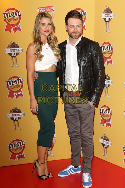 LONDON, ENGLAND - APRIL 14:Vogue Williams and Brian McFadden attends the M&amp;M's Characters Election launch party at M&amp;M's World on April 14, 2015 in London, England.<br /> CAP/ROS<br /> &copy;Steve Ross/Capital Pictures