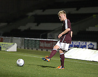 Fraser Mullens in the St Mirren v Heart of Midlothian Clydesdale Bank Scottish Premier League U20 match played at St Mirren Park, Paisley on 6.11.12.