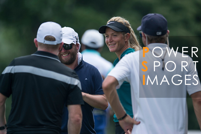 Suzann Pettersen smiles during the World Celebrity Pro-Am 2016 Mission Hills China Golf Tournament on 23 October 2016, in Haikou, Hainan province, China. Photo by Marcio Machado / Power Sport Images