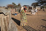 OTJIWARONGO, NAMBIA- AUGUST 12: Lina Kaniungu, age 73, a Herero woman and a former worker at the German farm Hamakiri, owned by the German farmer  W.G. Diekmann outside Otjowarongo. She lives with a big family in a poor area in Otjiwarongo. Hamakiri was the venue for a decisive battle on the Herero uprising in 1904.  (Photo by: Per-Anders Pettersson)