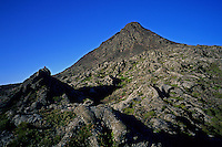 Pico, a desolate volcano rising 2351m above the Atlantic, is Portugal's highest mountain. Pico, Azores, 2005