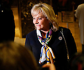 Governor Mary Fallin (Republican of Oklahoma) speaks to journalists after meeting with United States President-elect Donald Trump, November 21, 2016, at the Trump Tower in New York, New York.<br /> Credit: Aude Guerrucci / Pool via CNP