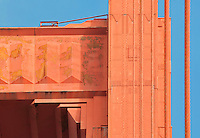 South Tower East, Detail - Enhanced. The Golden Gate Bridge.