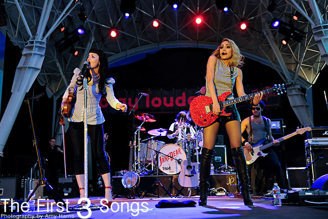 Susie Brown and Danelle Leverett of The JaneDear Girls perform during the ACM Concerts at Fremont Street Experience Event in Las Vegas, Nevada on April 2, 2011.