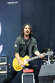 HALESTORM - guitarist Joe Hottinger - performing live on Day Three on the Lemmy Stage at the Download Festival at Donington Park UK - 12 Jun 2016.  Photo credit: Zaine Lewis/IconicPix