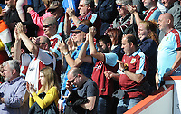 The travelling Burnley fans thank there team at the final whistle <br /> <br /> Photographer Ian Cook/CameraSport<br /> <br /> The Premier League - Bournemouth v Burnley - Saturday 13th May 2017 - Vitality Stadium - Bournemouth<br /> <br /> World Copyright &copy; 2017 CameraSport. All rights reserved. 43 Linden Ave. Countesthorpe. Leicester. England. LE8 5PG - Tel: +44 (0) 116 277 4147 - admin@camerasport.com - www.camerasport.com
