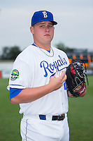 Burlington Royals pitcher Justin Camp (25) poses for a photo prior to the game against the Bluefield Blue Jays at Burlington Athletic Stadium on June 27, 2016 in Burlington, North Carolina.  The Royals defeated the Blue Jays 9-4.  (Brian Westerholt/Four Seam Images)