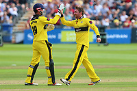 Tom Smith of Gloucestershire celebrates taking the wicket of James Foster during Gloucestershire vs Essex Eagles, NatWest T20 Blast Cricket at The Brightside Ground on 13th August 2017