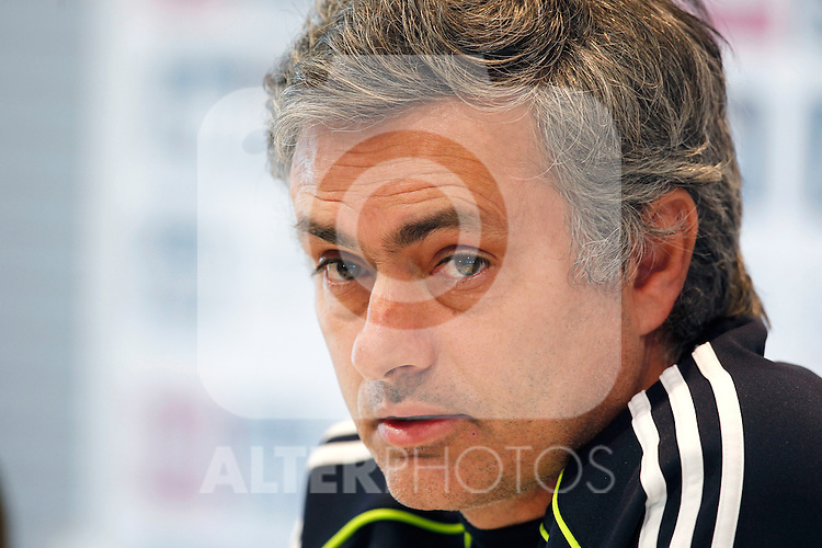 Jose Mourinho Press Conference after Real Madrid training at Real MAdrid City in Valdebebas, Madrid February  1st  2011...Photo: Alex Cid-Fuentes / ALFAQUI