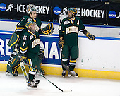 John Vazzano (Vermont - 1), Justin Milo (Vermont - 7), Corey Carlson (Vermont - 13) - The University of Vermont Catamounts defeated the Yale University Bulldogs 4-1 in their NCAA East Regional Semi-Final match on Friday, March 27, 2009, at the Bridgeport Arena at Harbor Yard in Bridgeport, Connecticut.