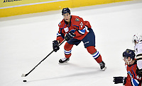 HERSHEY, PA - DECEMBER 01: Springfield Thunderbirds forward Jonathan Ang (21) looks for a pass during the Springfield Thunderbirds at Hershey Bears on December 1, 2018 at the Giant Center in Hershey, PA. (Photo by Randy Litzinger/Icon Sportswire)