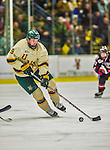 17 December 2013:  University of Vermont Catamount Forward Matt White, a Senior from McMurray, PA, in second period action against the Northeastern University Huskies at Gutterson Fieldhouse in Burlington, Vermont. The Huskies shut out the Catamounts 3-0 to end UVM's 5 game winning streak. Mandatory Credit: Ed Wolfstein Photo *** RAW (NEF) Image File Available ***