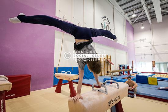 Gymnastics at Basildon Sporting Village, Essex UK. Home to the South Essex Gymnastics Club & Olympic champion Max Whitlock