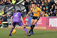 Jake Carroll of Cambridge United and David Worrall of Port Vale during Cambridge United vs Port Vale, Sky Bet EFL League 2 Football at the Cambs Glass Stadium on 9th February 2019