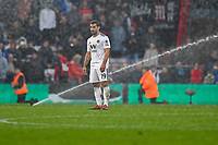The sprinklers come on two mins before the final whistle as Jonny of Wolverhampton Wanderers looks on during AFC Bournemouth vs Wolverhampton Wanderers, Premier League Football at the Vitality Stadium on 23rd February 2019