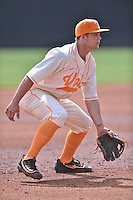 Tennessee Volunteers third baseman Nick Senzel (13) during game one of a double header against the UC Irvine Anteaters at Lindsey Nelson Stadium on March 12, 2016 in Knoxville, Tennessee. The Volunteers defeated the Anteaters 14-4. (Tony Farlow/Four Seam Images)