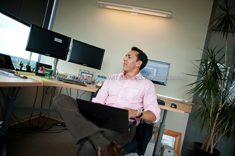 6/20/2011--Bellevue, WA, USA..Yusuf Mehdi (Senior Vice President, Online Audience Business) in his office in Microsoft's Bellevue offices. Microsoft's Bing search tool was unveiled by Microsoft CEO Steve Ballmer on May, 2009...©2011 Stuart Isett. All rights reserved.