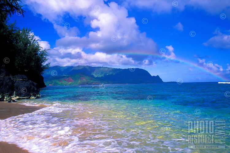 Rainbow tops view at Hideaways Beach