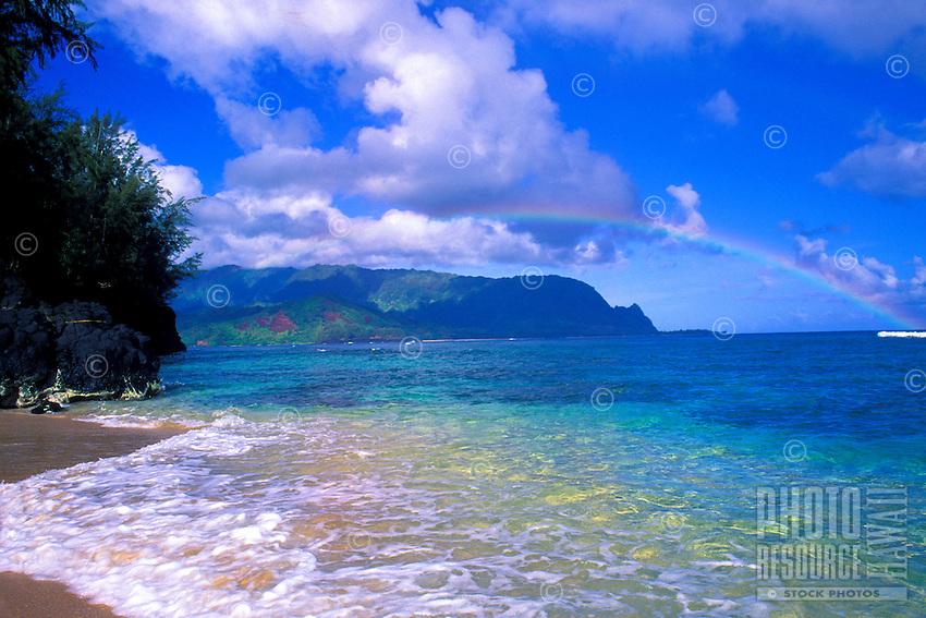 Rainbow tops view at Hideaways Beach