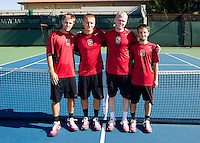Sophomore  members with the Stanford Men's Tennis Team. Photo taken on Monday, September 23, 2013.