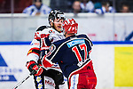 S&ouml;dert&auml;lje 2014-01-06 Ishockey Hockeyallsvenskan S&ouml;dert&auml;lje SK - Malm&ouml; Redhawks :  <br />  Malm&ouml; Redhawks David Liffiton i br&aring;k med S&ouml;dert&auml;ljes Jonas Engstr&ouml;m <br /> (Foto: Kenta J&ouml;nsson) Nyckelord:  slagsm&aring;l br&aring;k fight fajt gruff