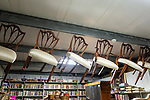 BETHLEHEM, CT. 11 January 2019-011119 - Chairs hand from the ceiling at the Giant Indoor Flea Market in Bethlehem on Friday. Bill Shettle Republican-American